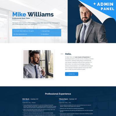 Landing Page Template #55254 für Bank