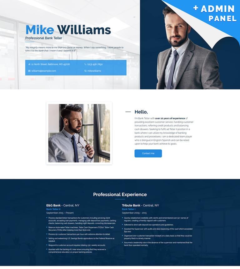 Landing Page Template #65373 für Bank