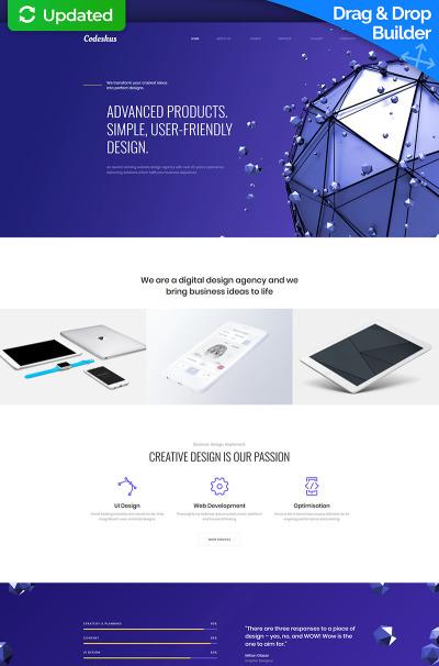 "Moto CMS 3 Template namens ""Codeskus - Web Design Agency Premium"" #65307"