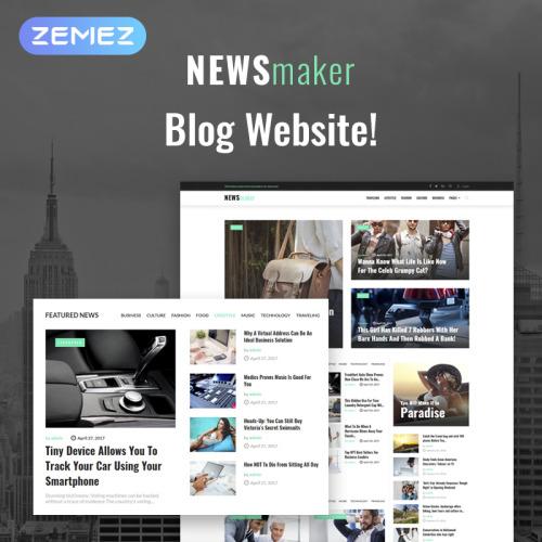 NEWSmaker - News & Magazine WordPress Theme - HTML5 WordPress Template