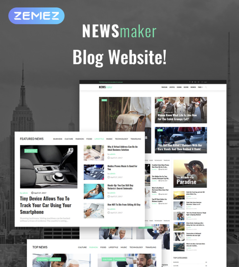 Tema de WordPress #65370 para Sitio de Portal de Noticias