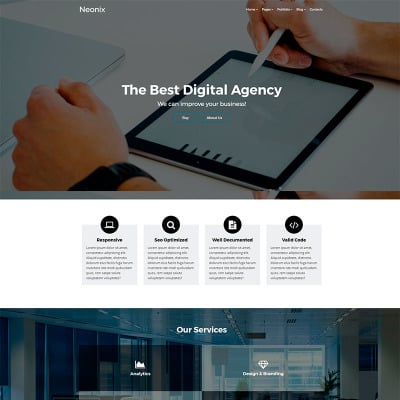 Plantillas web para sitios de consultor as for Consul bootstrap