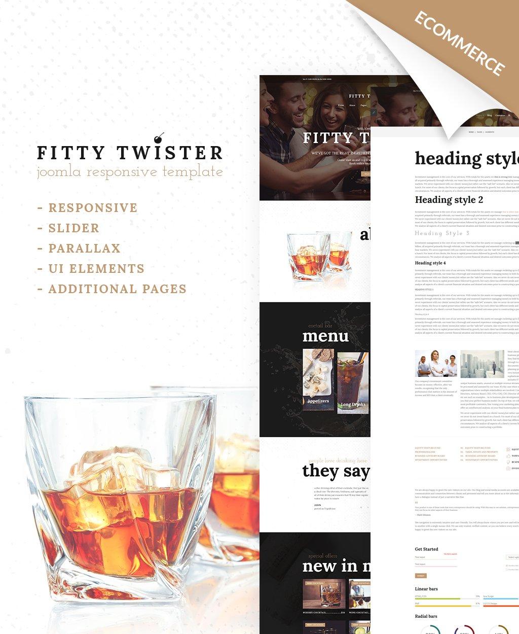 Responsive Joomla Template over Cocktail bar №65312
