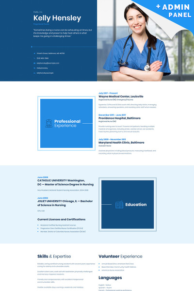 Personal Page Responsive Landingspagina Template