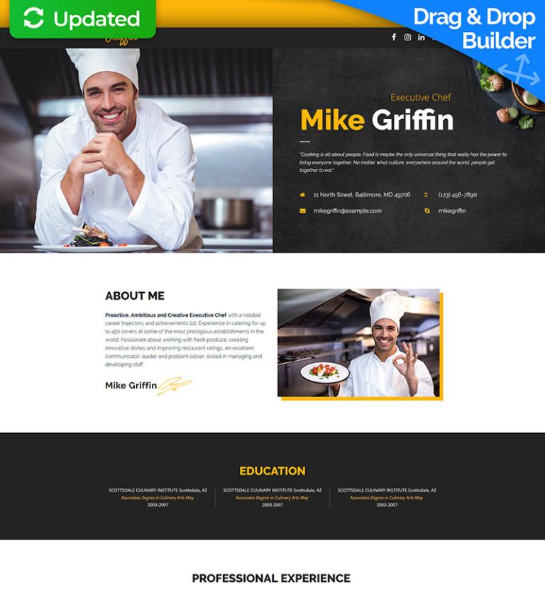 Landing Page Template #65375 für Chefkoch