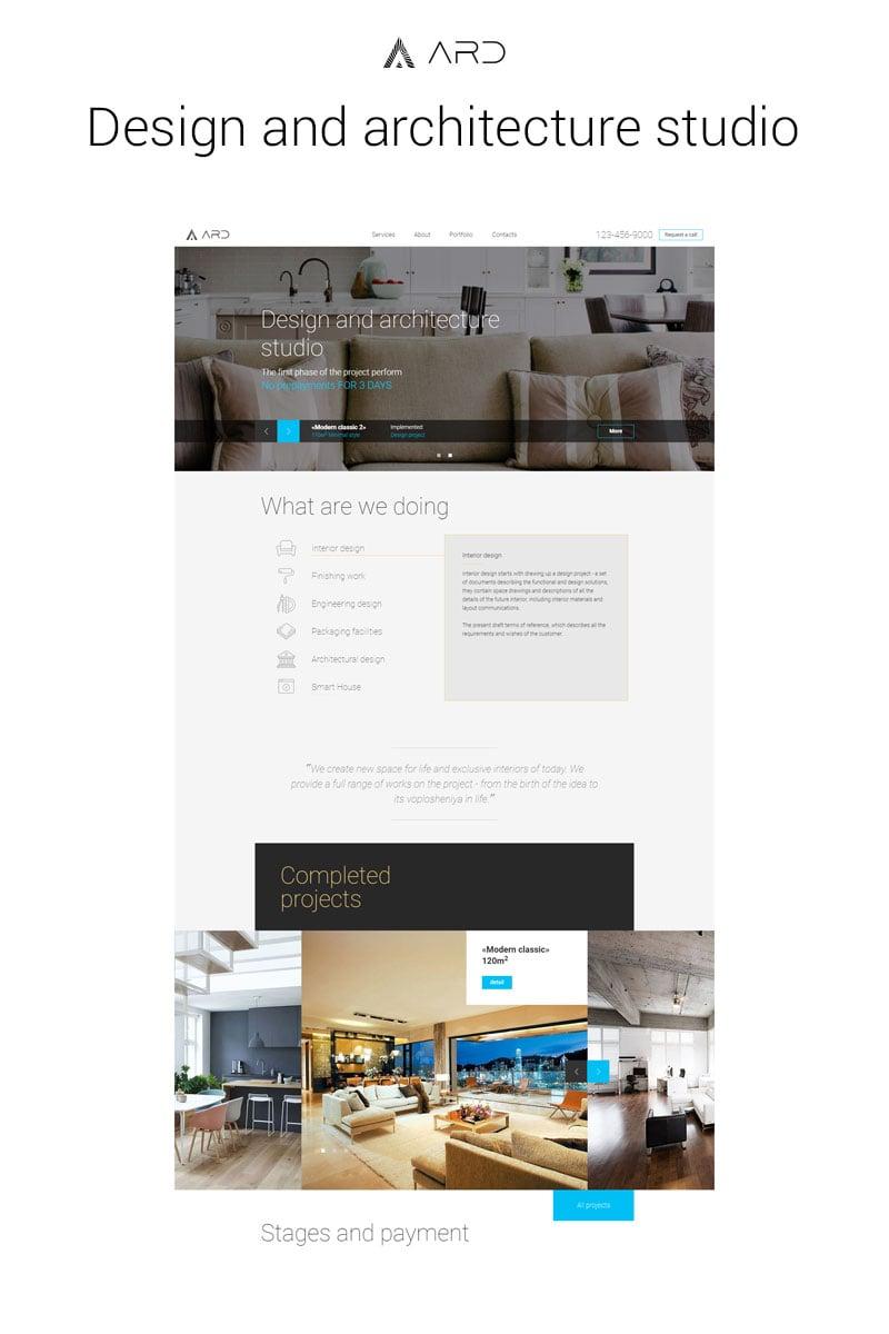 """Responsywny szablon strony www Design Studio """"ARD"""" #65332 - zrzut ekranu"""