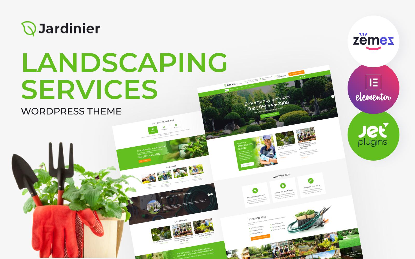 """Responzivní WordPress motiv """"Jardinier - Landscaping Services"""" #65343"""