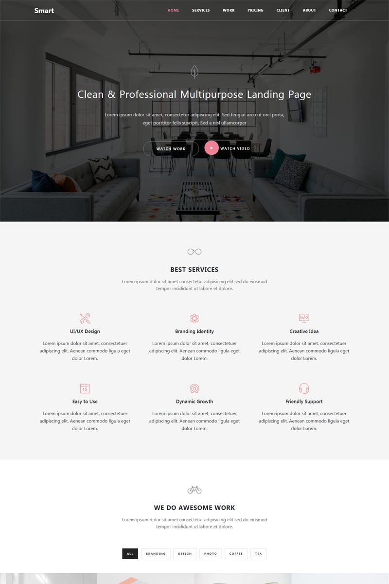 """Smart - Responsive Bootstrap 4 HTML5"" Responsive Website template №65322"