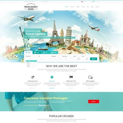 Agenzia di viaggi template templatemonster for Siti di design