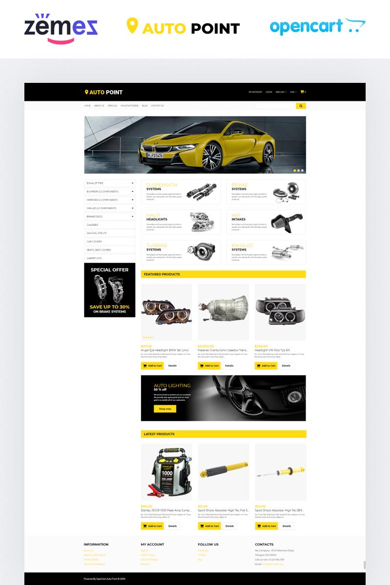 Template OpenCart Responsive #65320 per Un Sito di Ricambi Auto