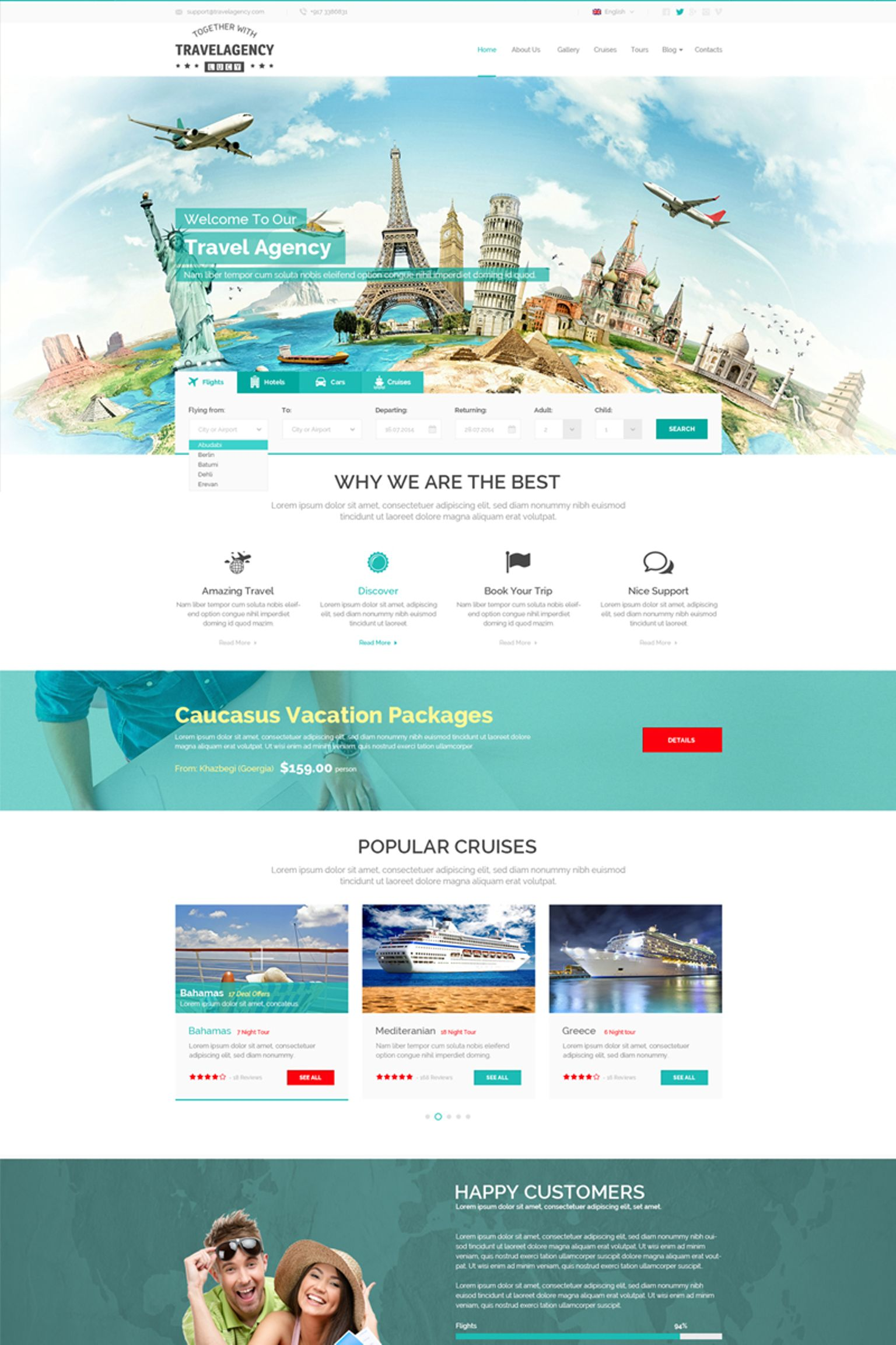 Travel Agency Website Template - screenshot