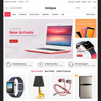 Modèle Web adaptatif  pour site de boutique mobile