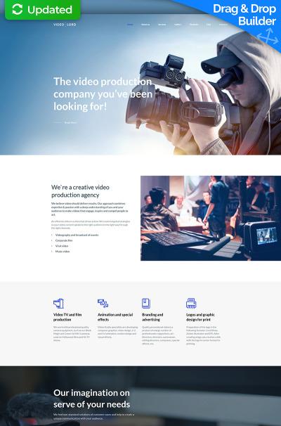 Modèle Moto CMS 3 adaptatif  pour site de laboratoire vidéo