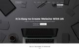 """Website Vorlage namens """"Black & White Labels"""""""