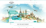 "Website Vorlage namens ""Travel Agency"""