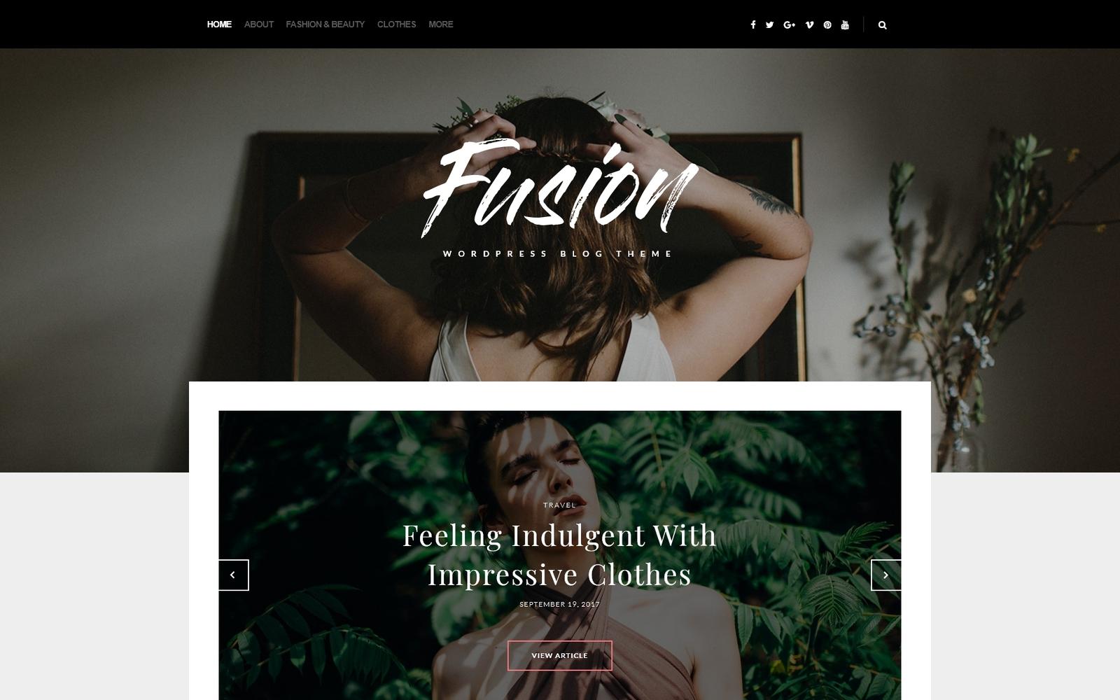 "WordPress Theme namens ""Fusion - Modeblog"" #65365"