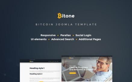 Bitone - Bitcoin Cryptocurrency Joomla Template
