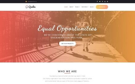 Quidin - Charity Fully Responsive WordPress Theme