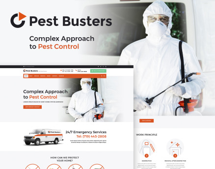 Pest Busters - Pest Control WordPress Theme