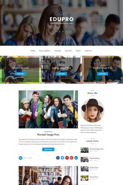 Website Design Template 65465 - theme blog blogger clean creative fashion food gallery instagram lifestyle modern music personal simple video