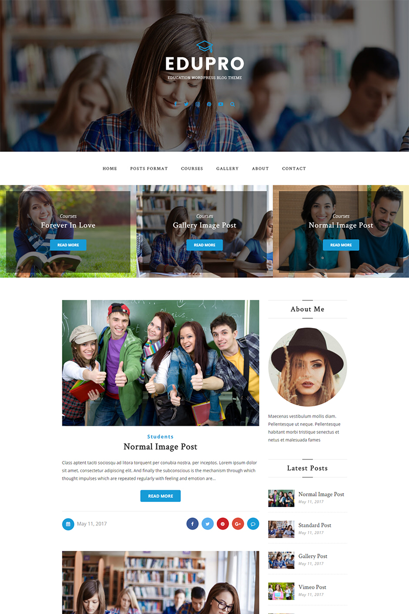 Website Design Template 65465 - blog blogger clean creative fashion food gallery instagram lifestyle modern music personal simple video