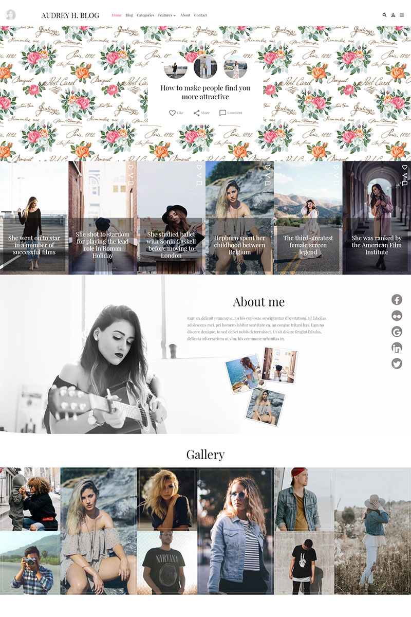Audrey WordPress Theme - screenshot