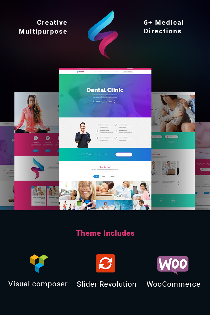 Bootstrap MedLab - Multipurpose Medical WordPress sablon 65446 - képernyőkép