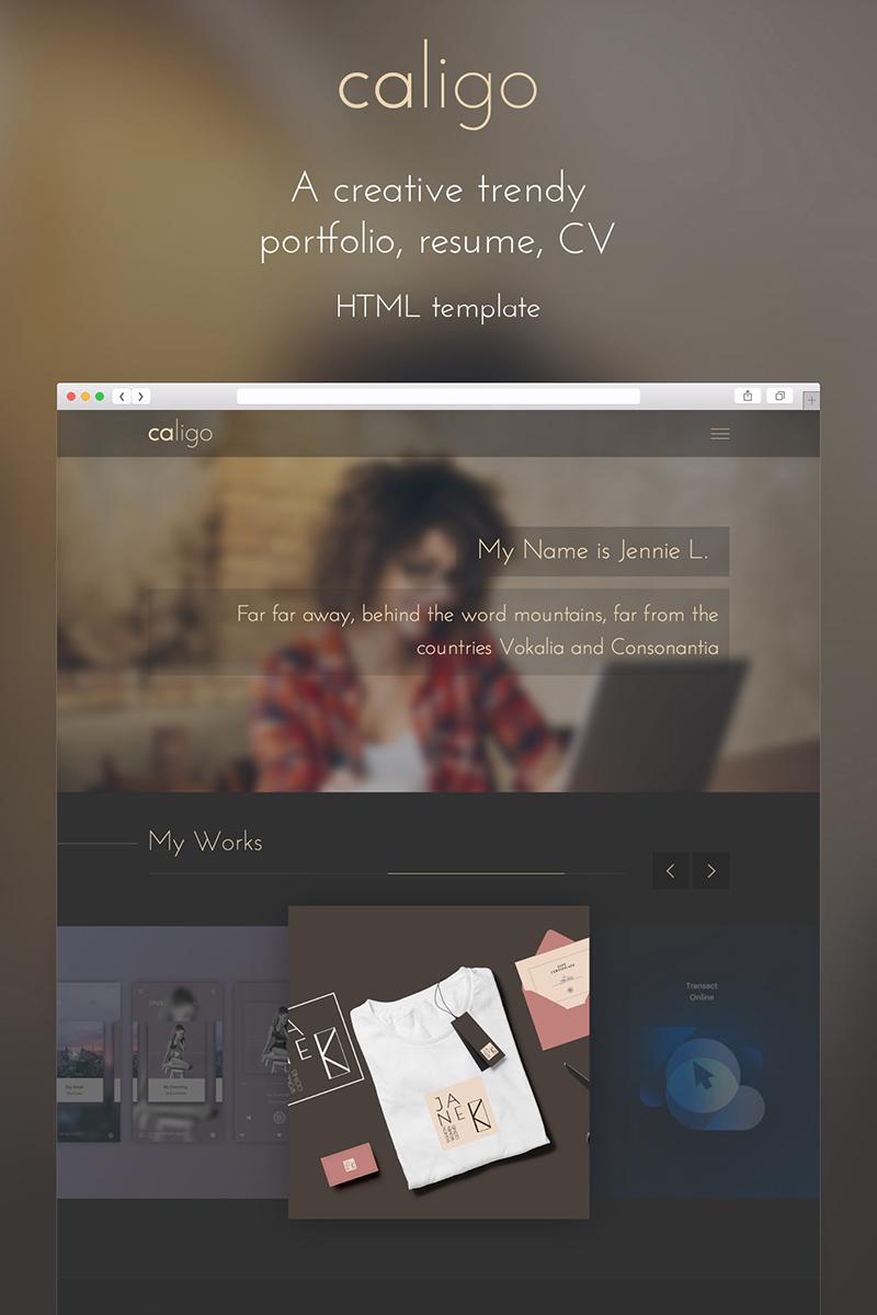 """Caligo - Portfolio, Resume, CV"" - bootstrap Шаблон сайту №65417"