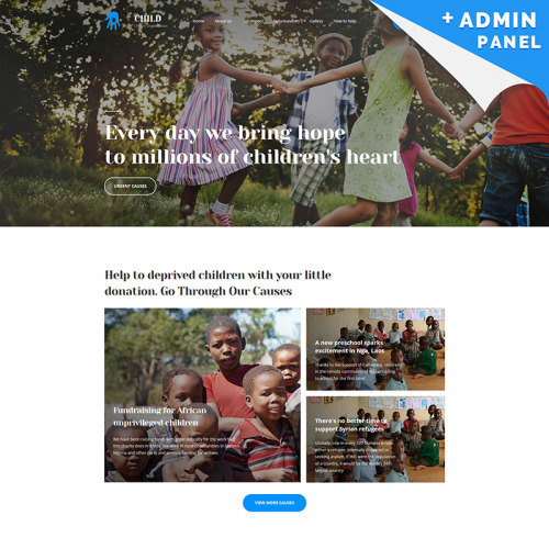 Charity - Landing Page Template based on Bootstrap