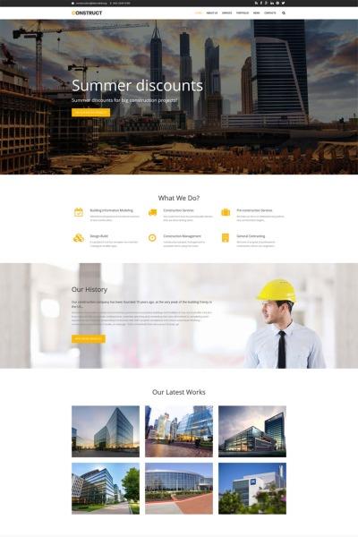 Construct - Construction Premium Drupal Template #65491