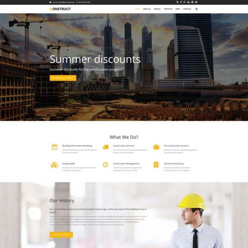 Construct - Construction Premium - Drupal Template