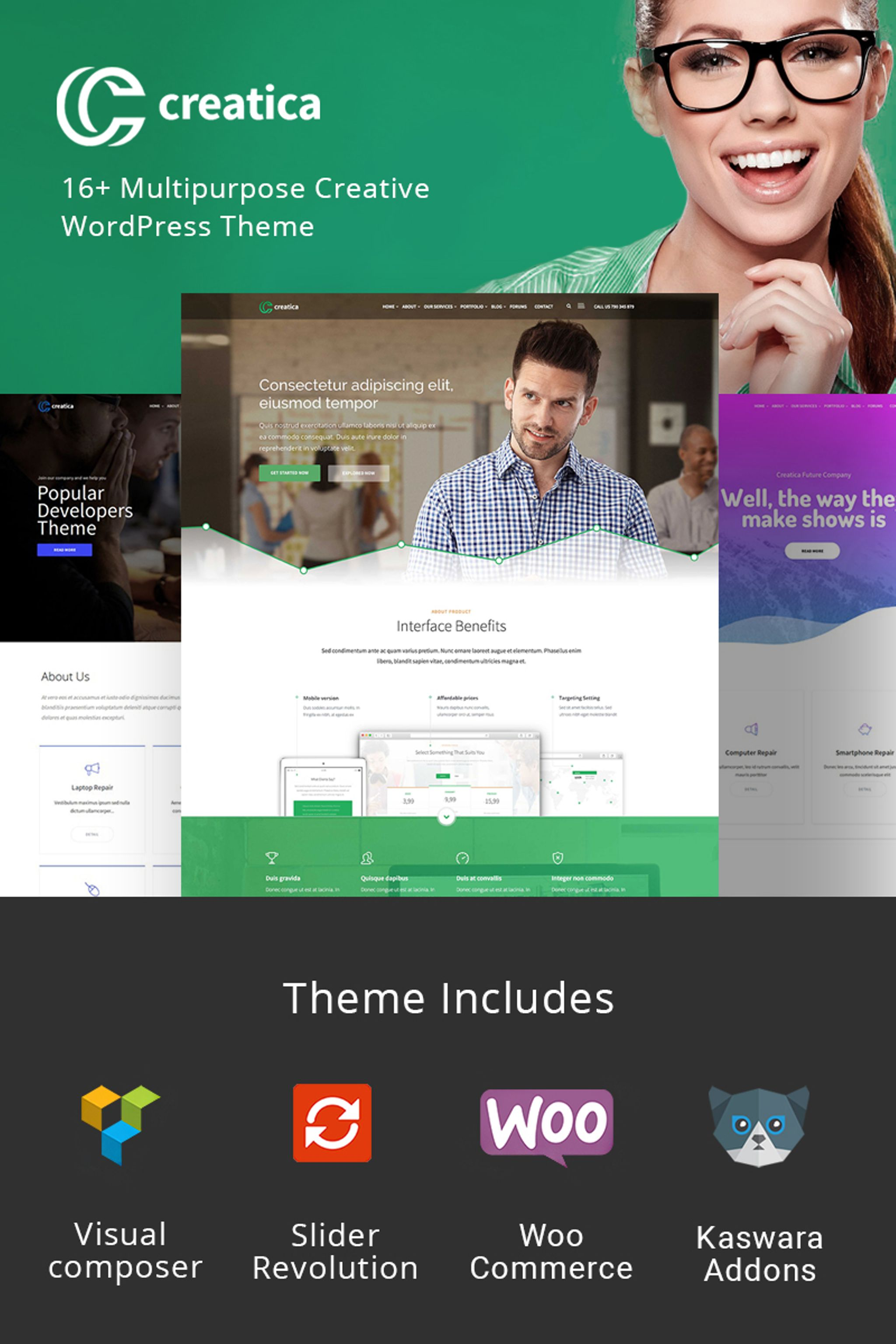 Creatica - Multipurpose WordPress Theme - screenshot
