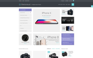 Electrocloud - Mobile Store Joomla Template