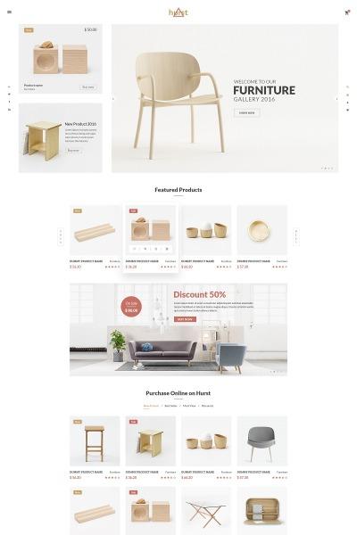 Modèle Web adaptatif  pour site de meubles