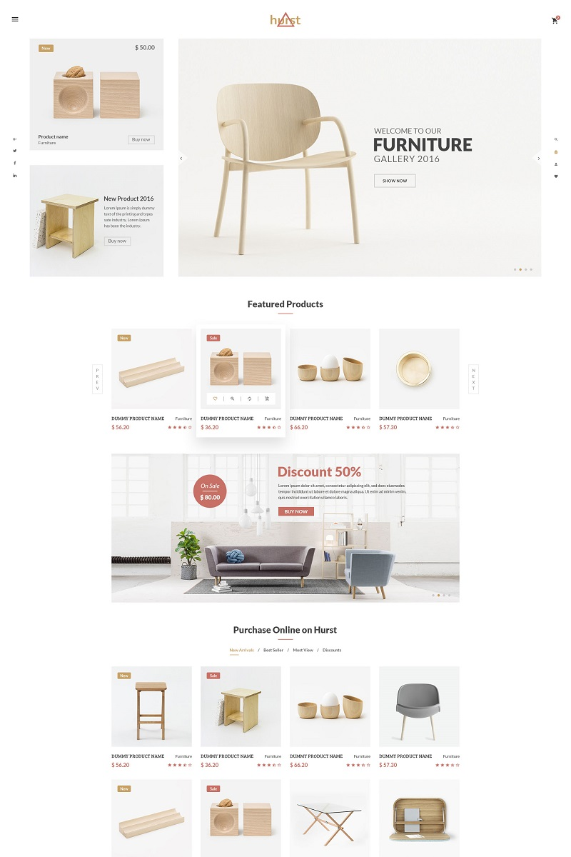 Hurst - Furniture eCommerce Website Template - screenshot