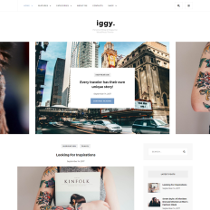 Fashion blog templates templatemonster iggy clean blog magazine pronofoot35fo Choice Image