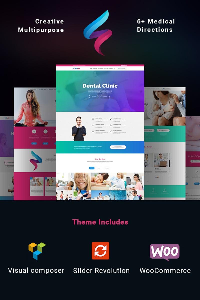 """MedLab - Multipurpose Medical"" Bootstrap WordPress thema №65446 - screenshot"