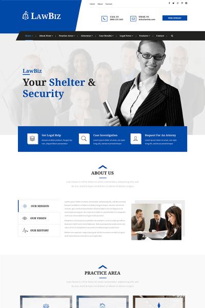 Modèle Web Bootstrap  pour site d'avocat #65441