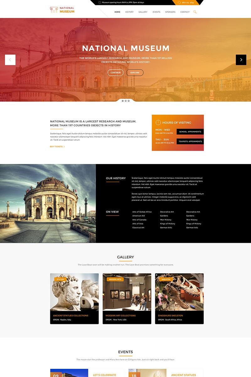 Museum - History & Art Gallery WordPress Theme - screenshot