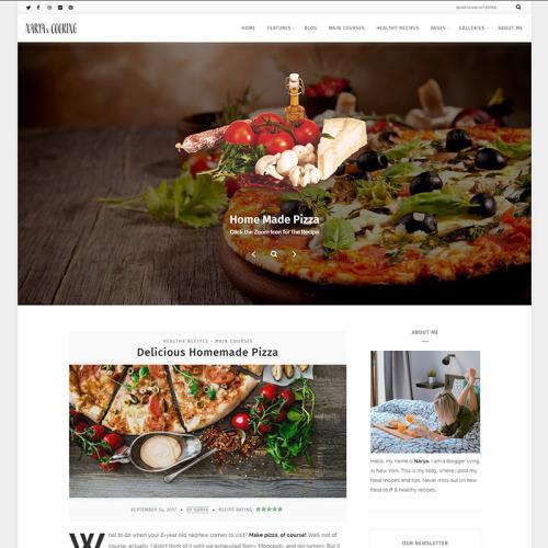 Narya - Food Blog For Cooks - Responsive WordPress Template