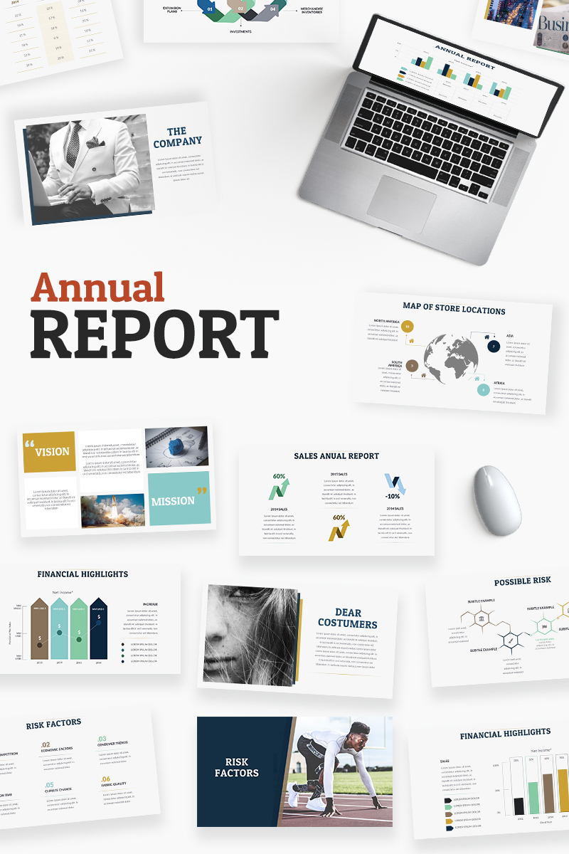 Premium Annual Report Powerpoint #65493