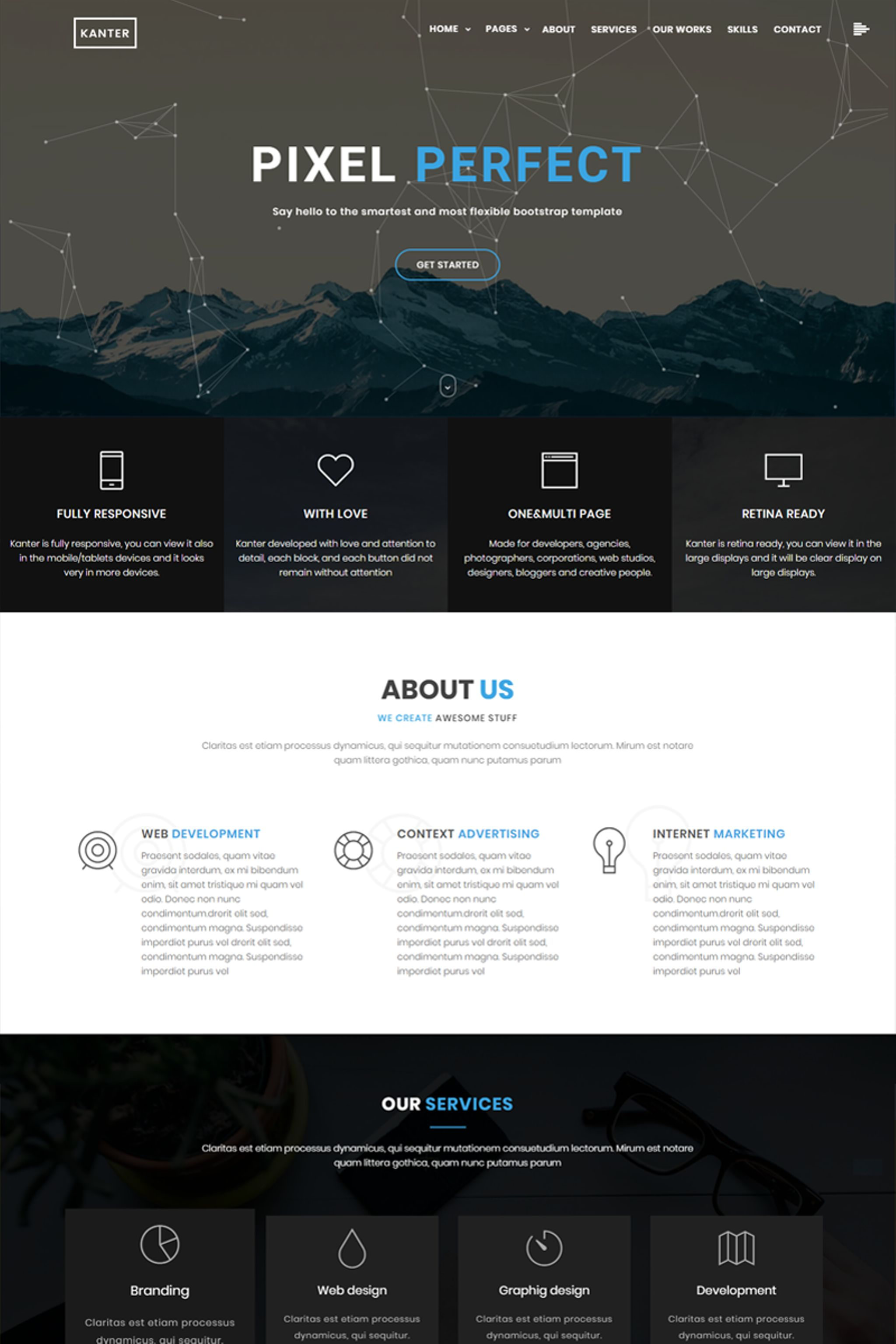 Responsive Kanter - Creative Responsive Minimalistic HTML Web Sitesi #65438