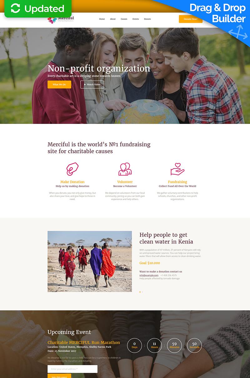 Responsives Landing Page Template für Wohltätigkeit #65474