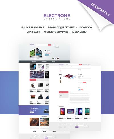 Responsywny szablon OpenCart #65462 na temat: sklep elektroniczny