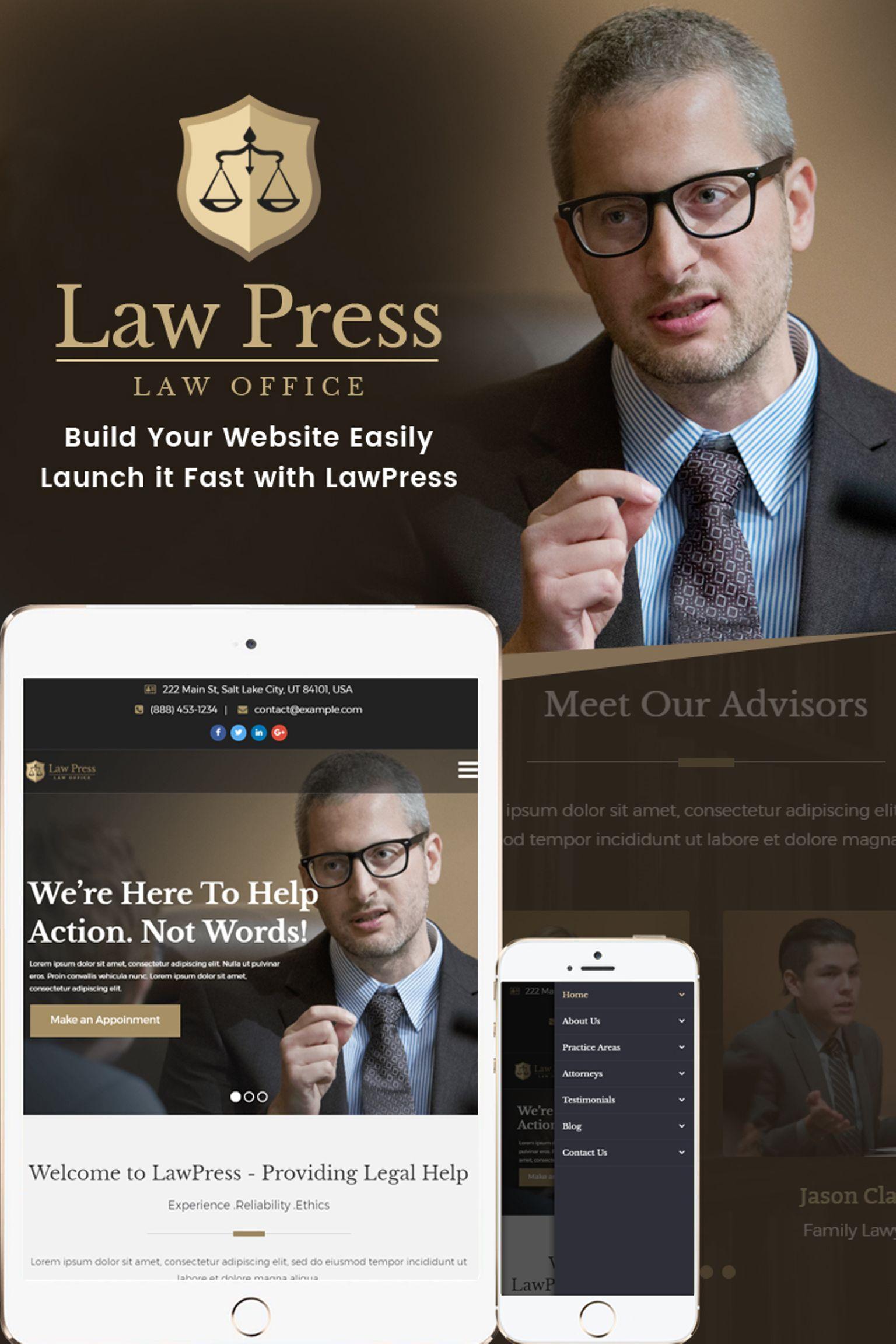 "Responzivní WordPress motiv ""LawPress - Lawyer & Attorney"" #65449"
