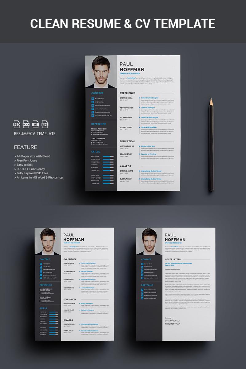 Resume/CV-Paul Hoffman Resume Template - screenshot