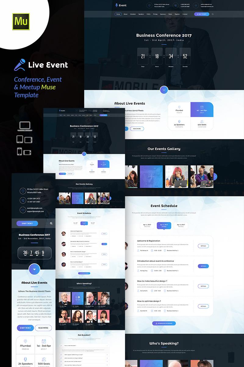 Reszponzív Live Event - Conference & Meetup Muse sablon 65460