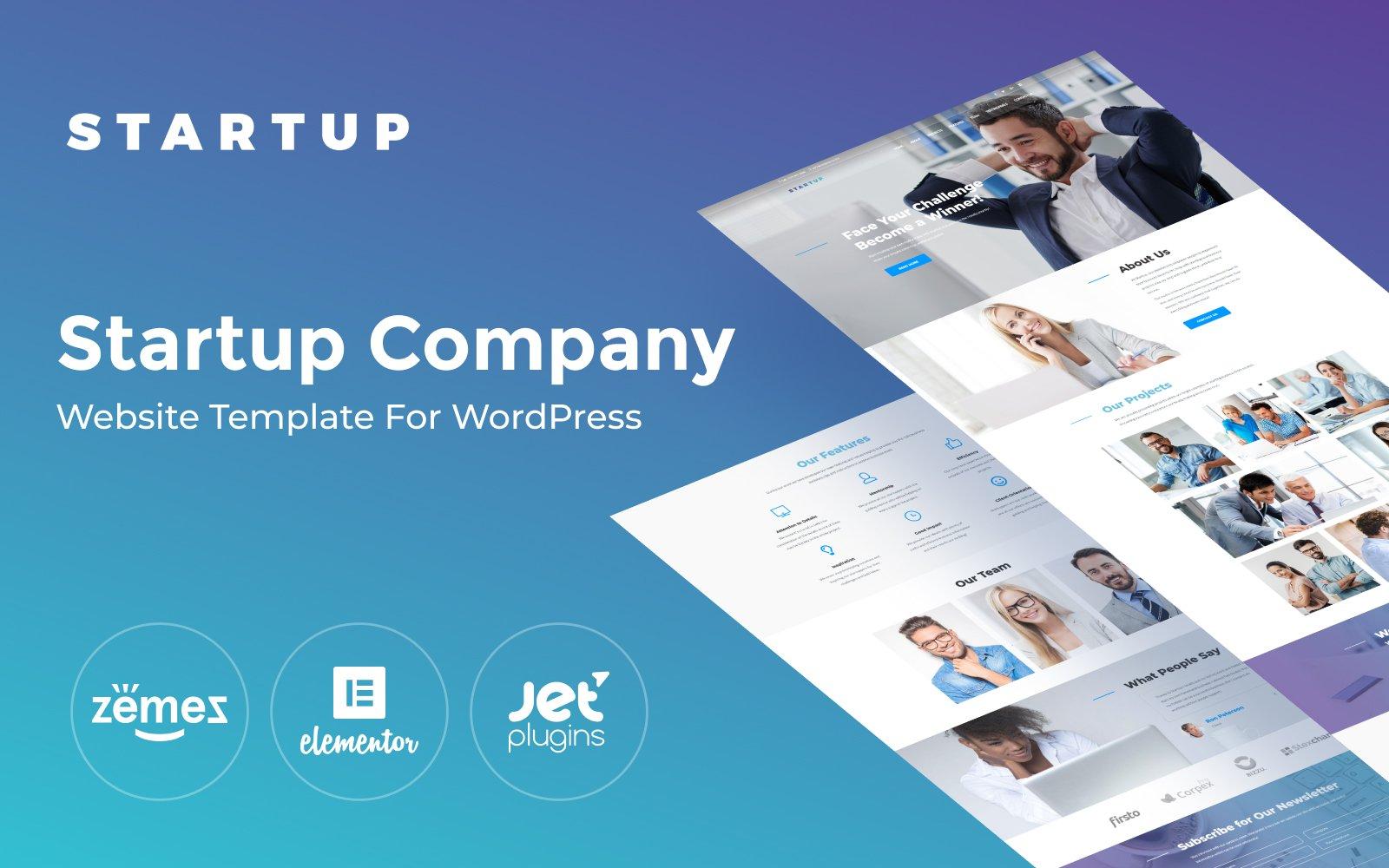 Reszponzív Startup Company One Page WordPress sablon 65461