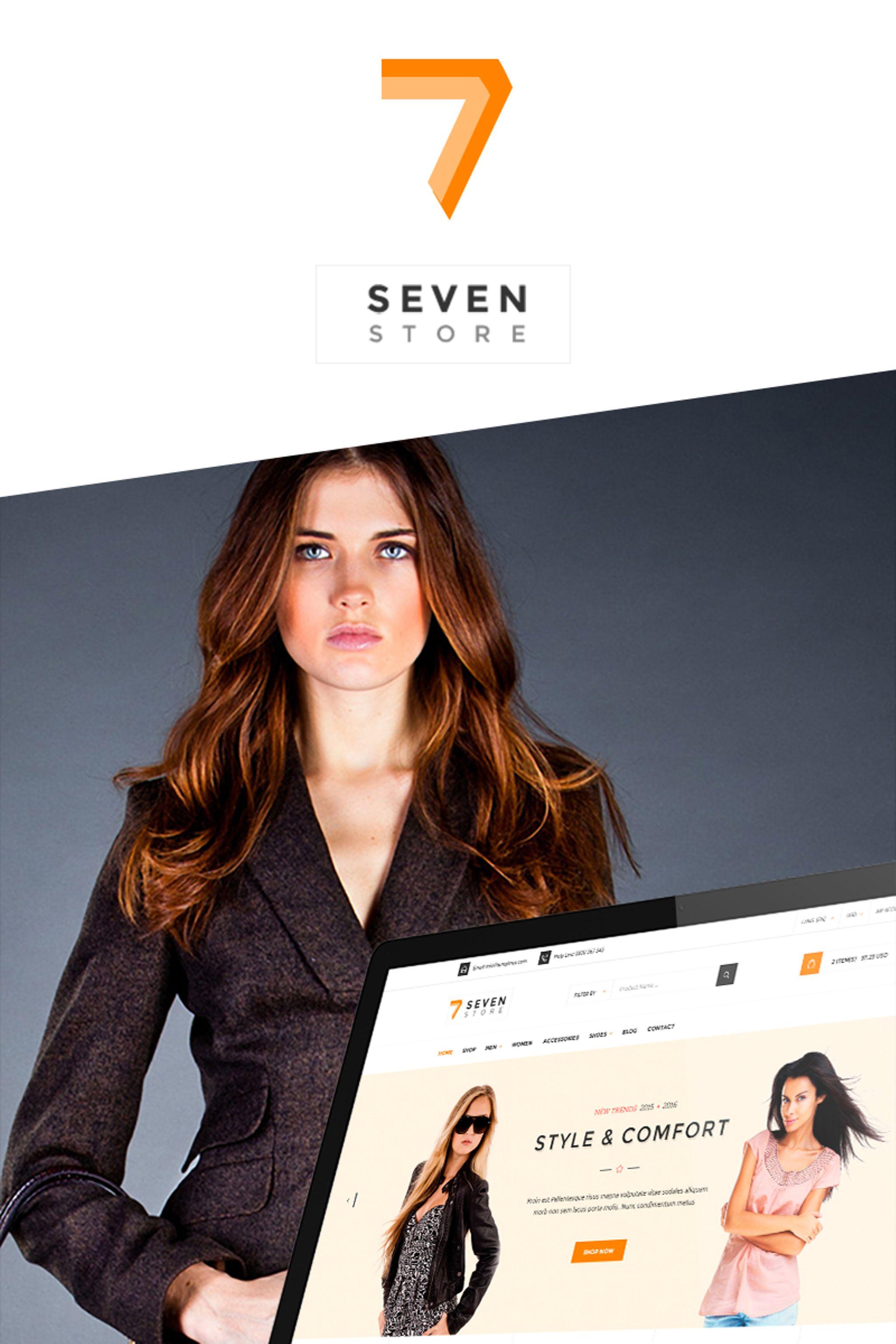 """Seven Store - Multipurpose"" thème WooCommerce Bootstrap #65450"