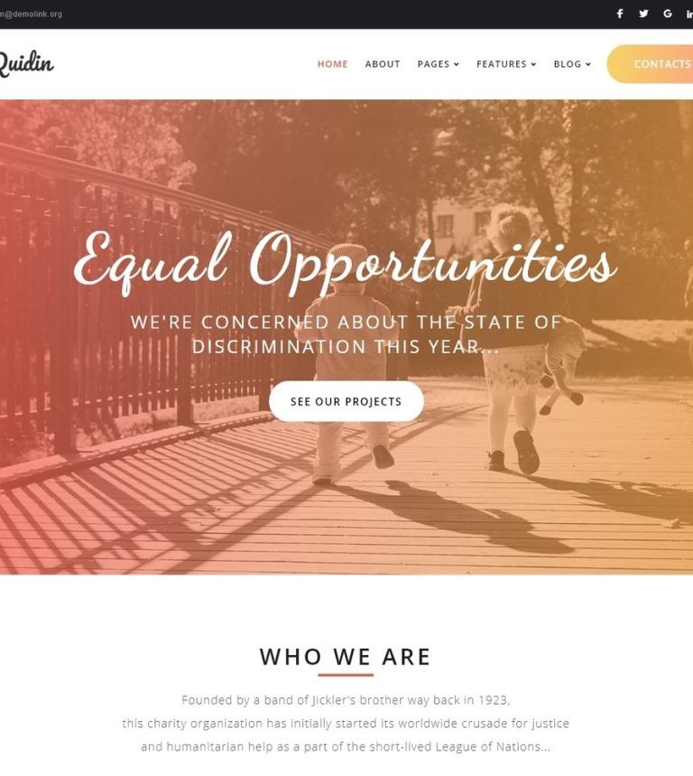 Tema de WordPress #65451 para Sitio de Caridad